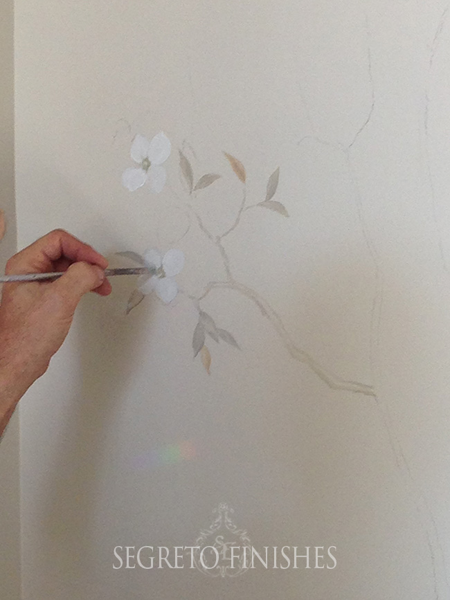 Segreto Secrets - I Love That Sample, Where Can It Go In My House - Starting a hand-painted mural
