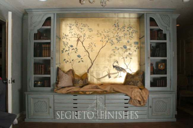 Segreto Secrets - I Love That Sample, Where Can It Go In My House - Gold Leaf with Hand-Painted Tree