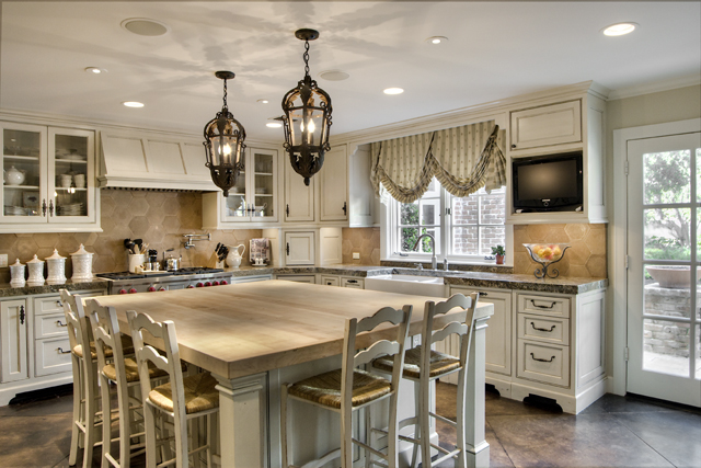 [ Appealing Grey Island White Cabinets Farmhouse Kitchen