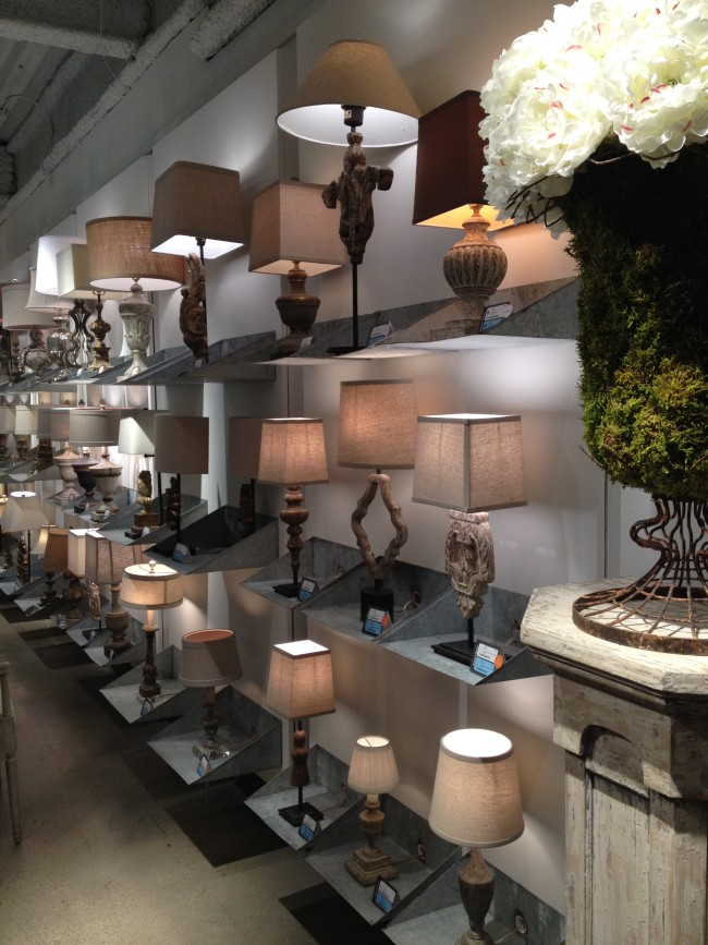 AG lamps in showroom