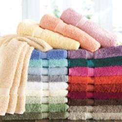piles of colored towels