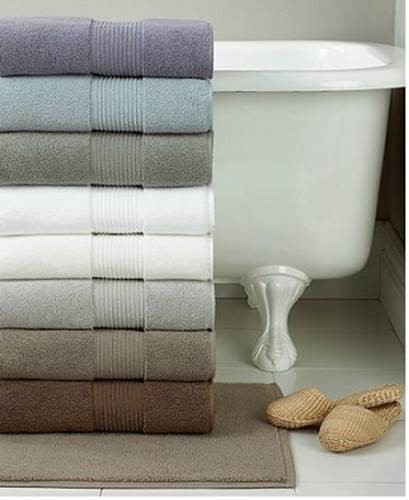 tub with colored towels