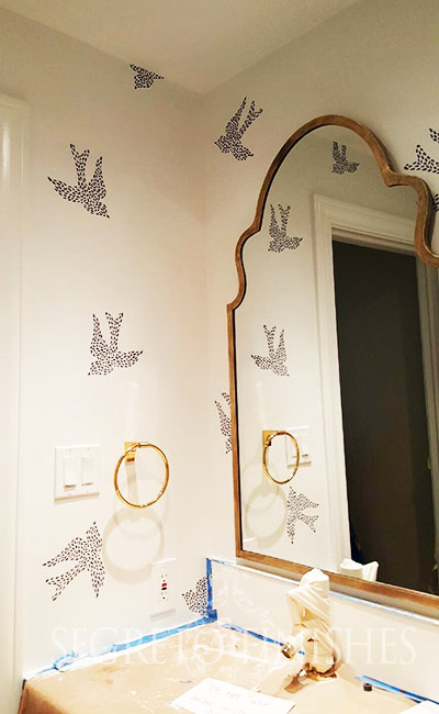 Powder room painted by Segreto Finishes, designed by Nest and Cot.