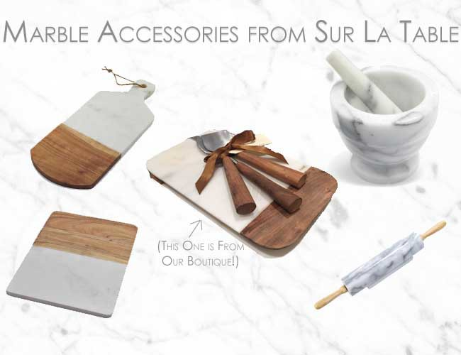 How to Accessorize your Kitchen Segreto Secrets Blog Marble Accessories