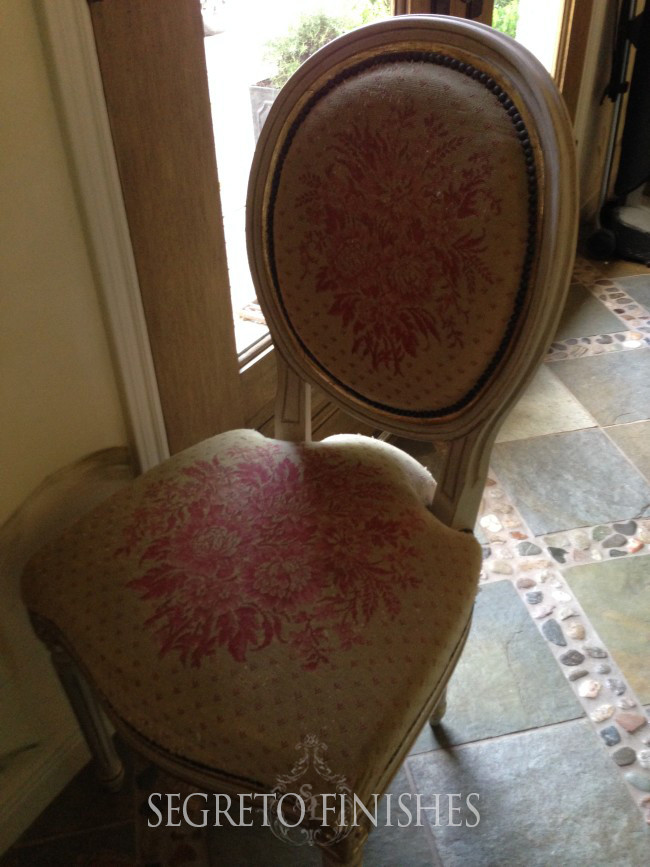 a great chair I found at an estate sale