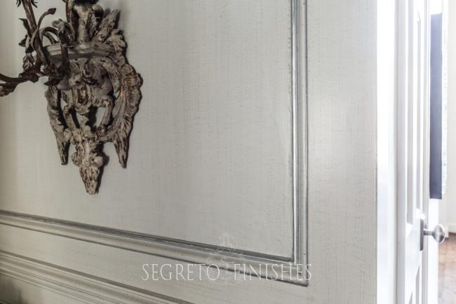 soft gray panel wall finish