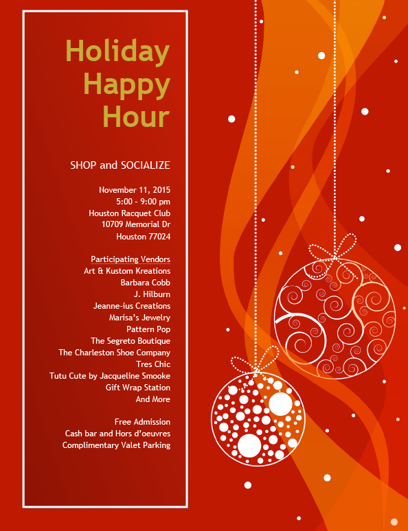 Houston Racquet Club 2015 Holiday Happy Hour