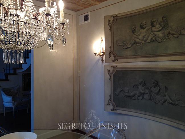 Leslie Dining Room corner gold detail