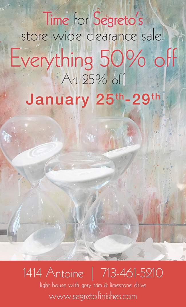 Clearance Sale at Segreto Boutique and Gallery