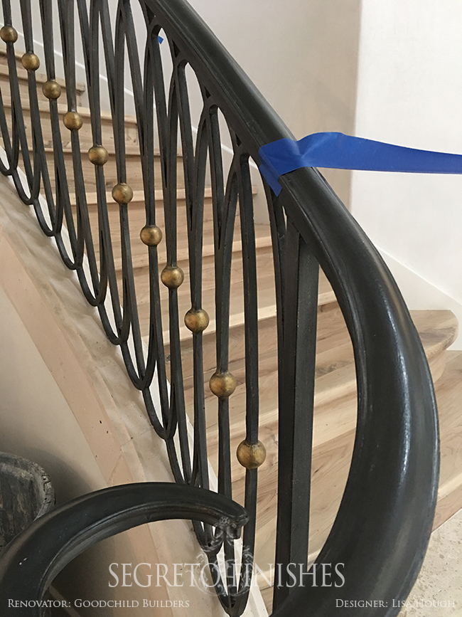 Segreto Tale of Four Projects - Gold Staircase Railing