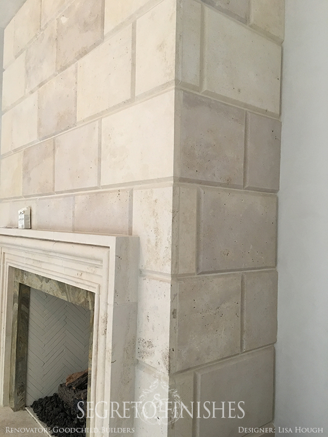 Segreto - Tale of Four Projects - Stone Fireplace Finish