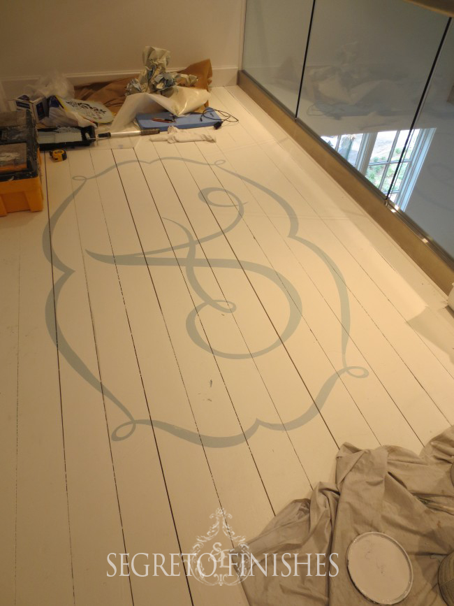 Monogrammed Floors by Segreto for Julie Dodson