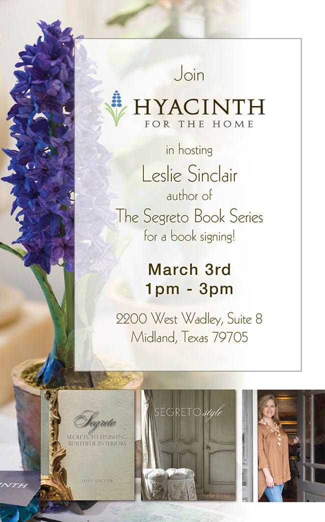 A Segreto book signing at Hyacinth for the Home