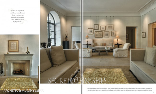 Farewell to Segreto: Secrets to Finishing Beautiful Interiors