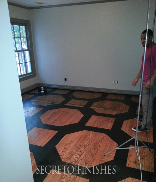 Geometric Pattern Floor Design by Segreto