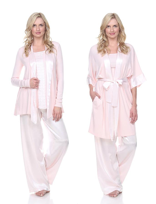 Silky PJs and robes at Segreto Boutique Houston