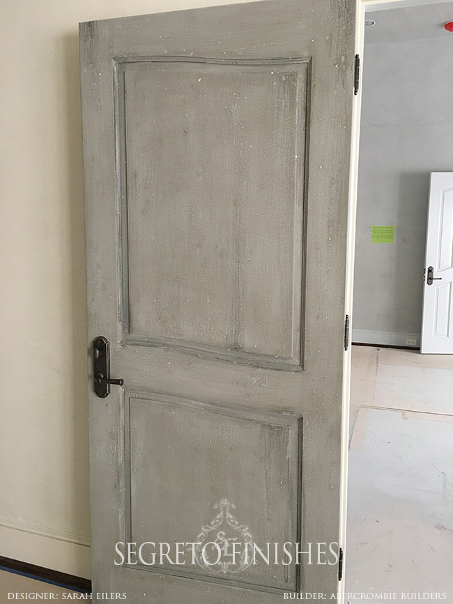 Segreto Secrets - Home Tours All Day Long - Antiqued Door Finish