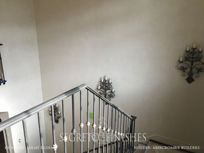 Segreto Secrets - Home Tours All Day Long - Plastered Stairwell with Sconces