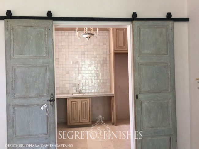 Segreto Secrets - Home Tours All Day Long - Antique Doors leading into Kitchen