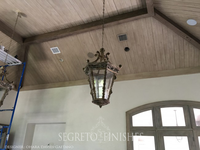 Segreto Secrets - Home Tours All Day Long - Hiding Vents and Can Lights on Wood Ceiling