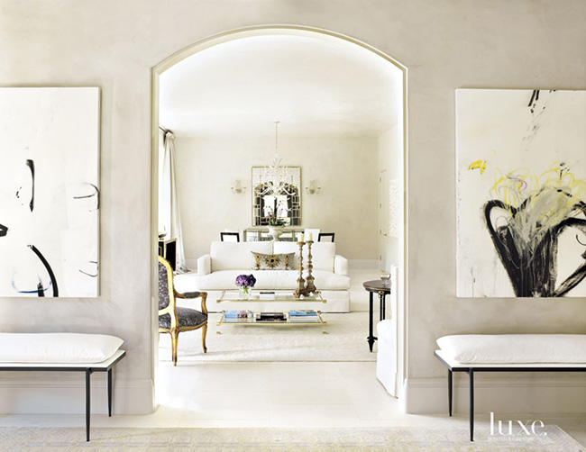 Segreto Secrets - Modern Meets French Country - Plastered Entry Hall