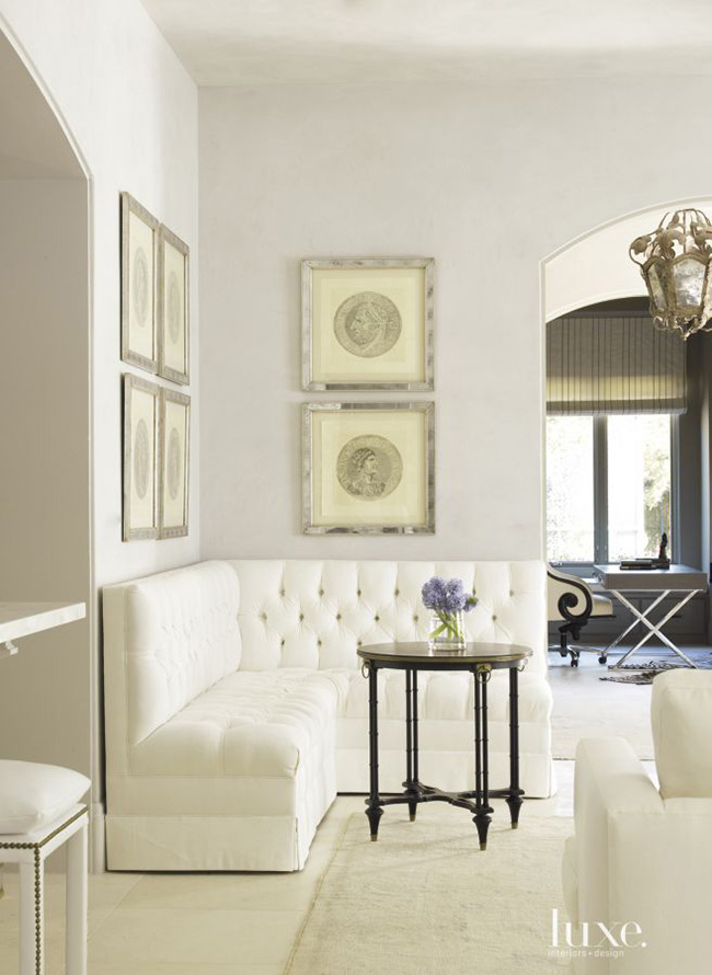 Segreto Secrets - Modern Meets French Country - White Banquette
