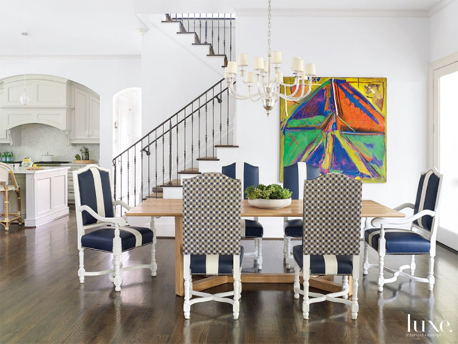 A Transitional Home - Breakfast Room