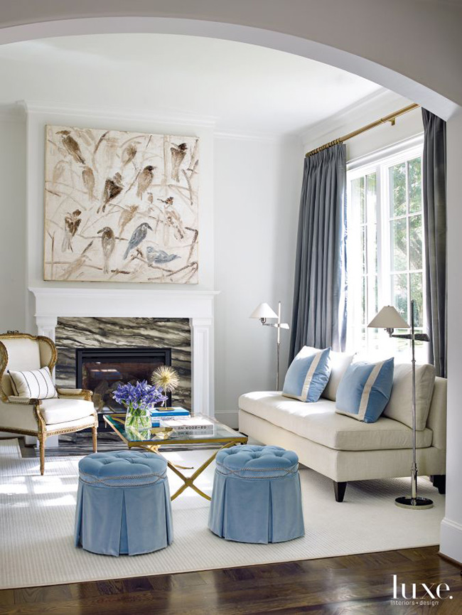 A Transitional Home - Sitting Area