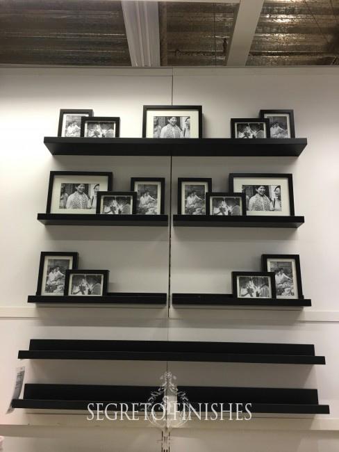 Segreto Secrets - Father's Day Office Makeover - Ikea Ribba Picture Frames on Ledge