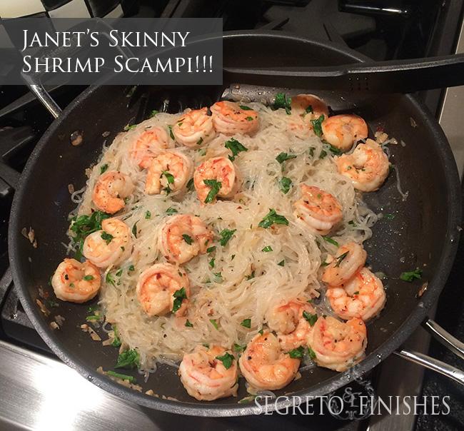 Segreto Secrets - Winner of the Skinny Noodle Challenge - Shrimp Scampi