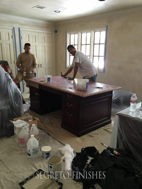 Segreto Secrets - Father's Day Office Makeover - Furniture Refinishing