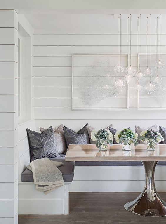 Segreto Secrets - Great Seating Ideas - Banquette with Pedestal Table