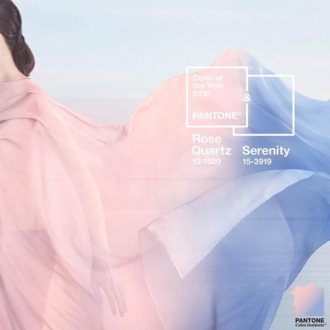 Rose Quartz and Serenity: Color of the Year 2016