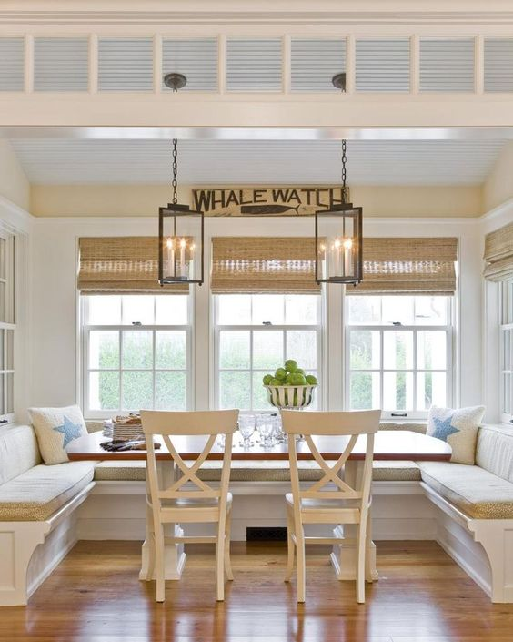 Segreto Secrets - Great Seating Ideas - Beachy Banquette with Chairs