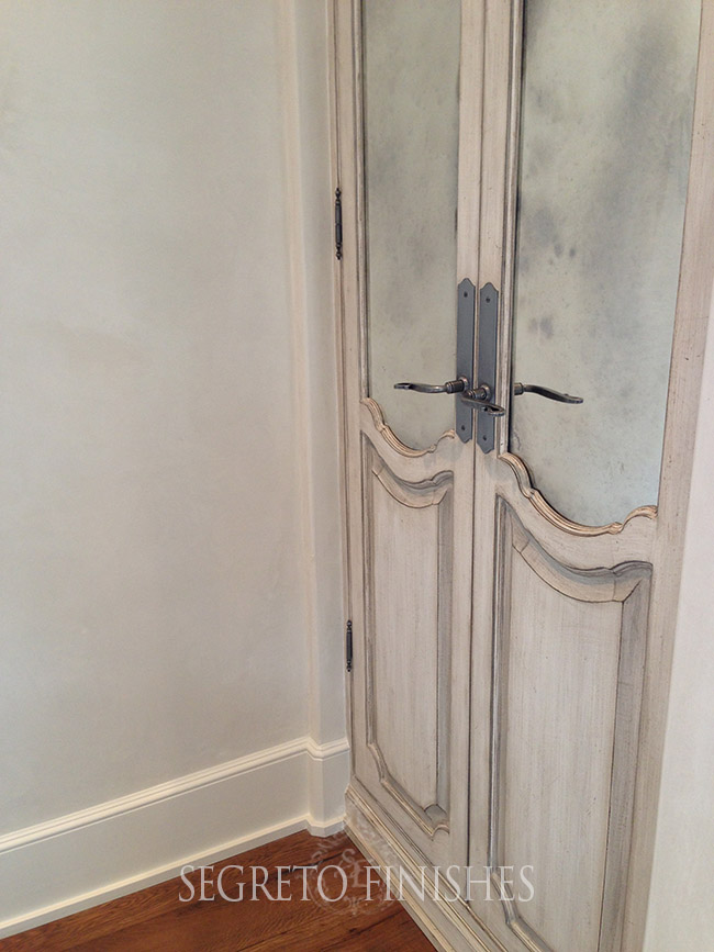 What's Segreto's Been Up To - Door Finish with Antique Mirror