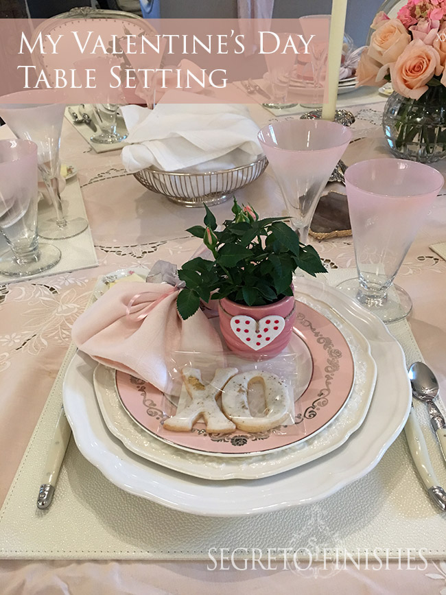 Segreto Secrets - My Valentine's Day Table Setting - with Party Favors