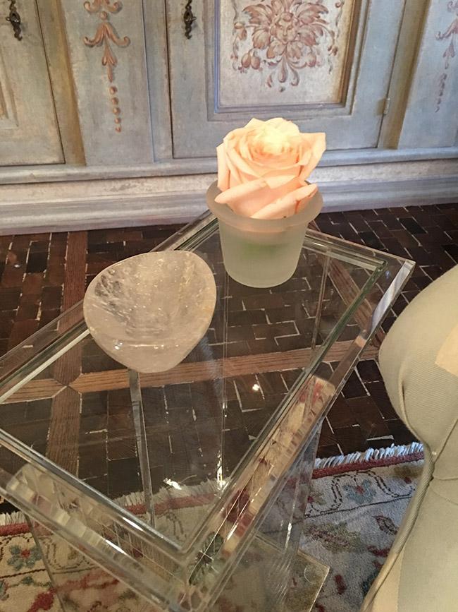 Segreto Secrets - My Valentine's Day Table Setting - Single Rose Arrangement