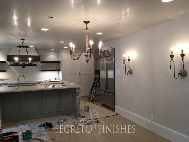 What Segreto Did Last Week! Segreto Secrets Blog! Plaster and Cabinet Finishes for New Kitchen