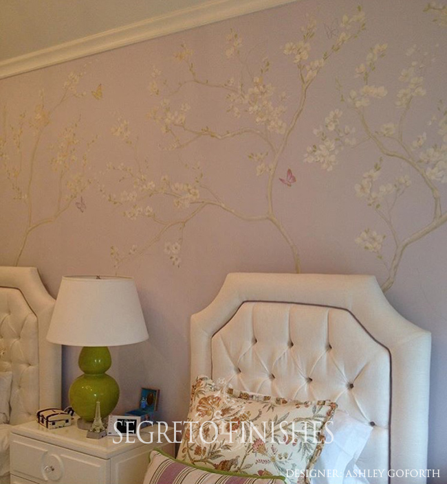 What's Segreto's Been Up To - Lovely Hand-Painted Tree Mural for Girls Room by Ashley Goforth