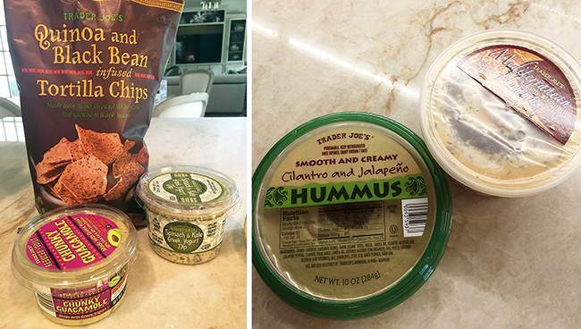 Segreto Secrets - My Favorite Things from Trader Joes - Hummus and Guacamole