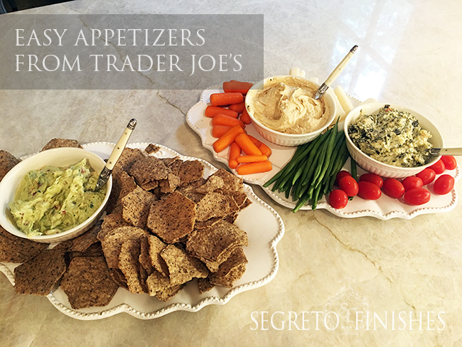 Segreto Secrets - My Favorite Things from Trader Joes - Easy Healthy Appetizer Platters