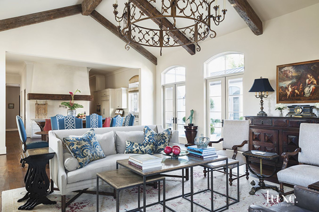 Segreto Secrets - Mediterranean Traditional Home Tour - Family Room