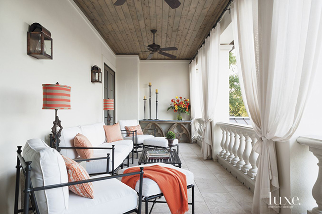 xSegreto Secrets - Mediterranean Traditional Home Tour - Balcony Outdoor Living with Orange Accents