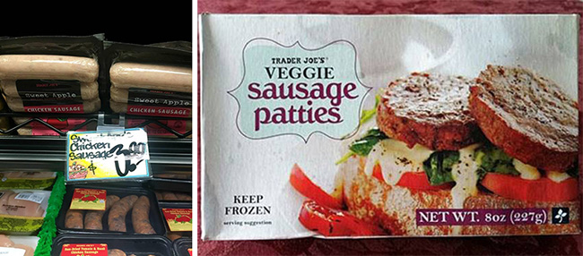 Segreto Secrets - Favorite Things at Trader Joe's - Chicken Sausage and Veggie Sausage Patties