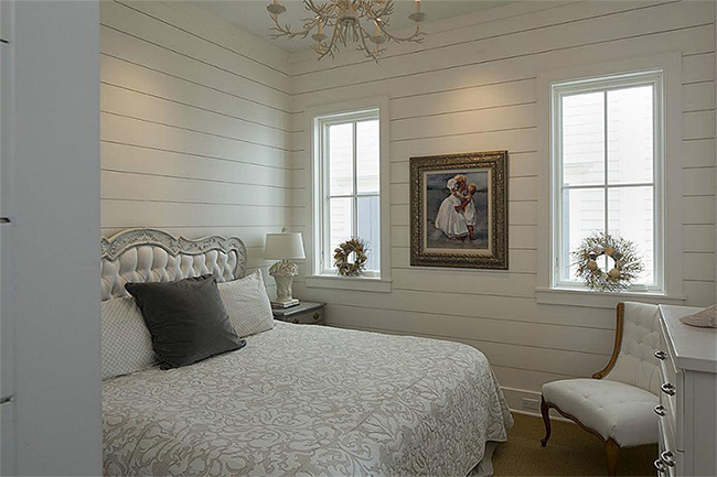 Segreto Secrets - Galveston Beach House - Layers of White and Cream in Guest Bedroom