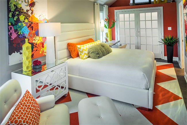 Segreto Secrets - Galveston Beach House - Orange Bedroom