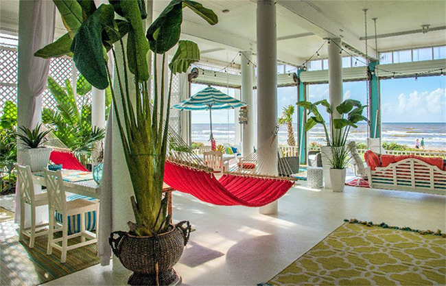 Segreto Secrets - Galveston Beach House - Colorful Hammock with View