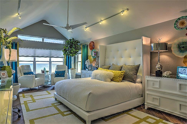 Segreto Secrets - Galveston Beach House - Lush Tropical Modern Bedroom