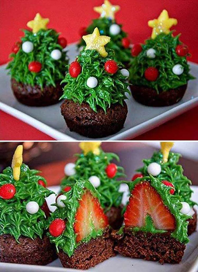 Segreto Secrets - Christmas Tree Crafts - Strawberry Tree Brownie Bites
