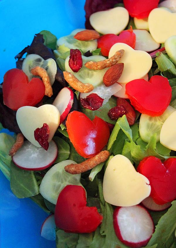 Segreto Secrets - My Valentine's Day Table Setting - Heart Salad